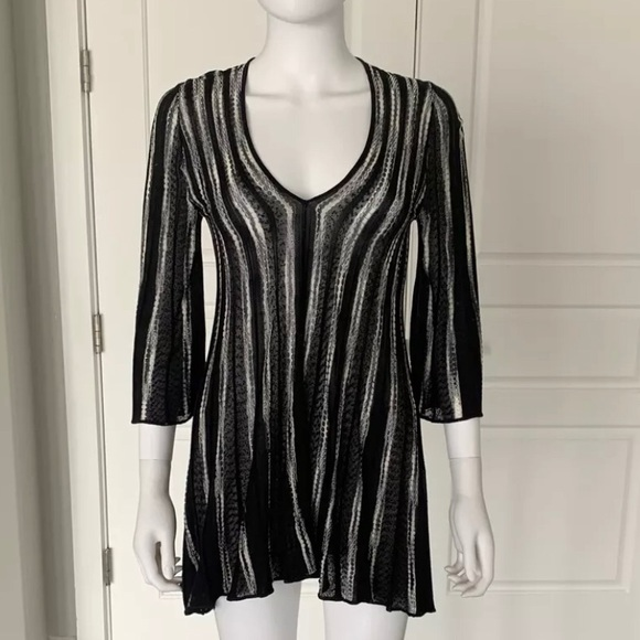 Missoni Stripe Knit Tunic Mini Dress Size 2